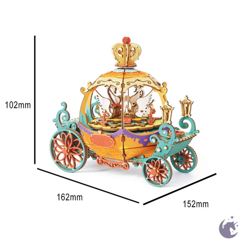unicorntoys robotime rolife pumpkin carriage diy music box 3d wooden puzzle birthday gift kits for teens AM41