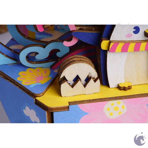 unicorntoys robotime rolife ocean park dream diy music box 3d wooden puzzle birthday gift kits for teens AMD51