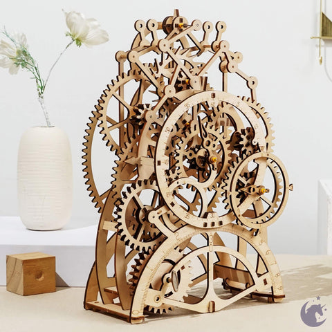 unicorntoys robotime rokr pendulum clock diy mechanical model building 3d wooden puzzle kit birthday gifts for teen LK501