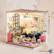 unicorntoys rolife robotime diy miniature dollhouse dg106 Locus's Sitting Room diorama craft kit