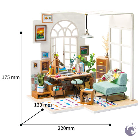 unicorntoys rolife robotime diy miniature dollhouse dgm01 Soho Time diorama craft kit