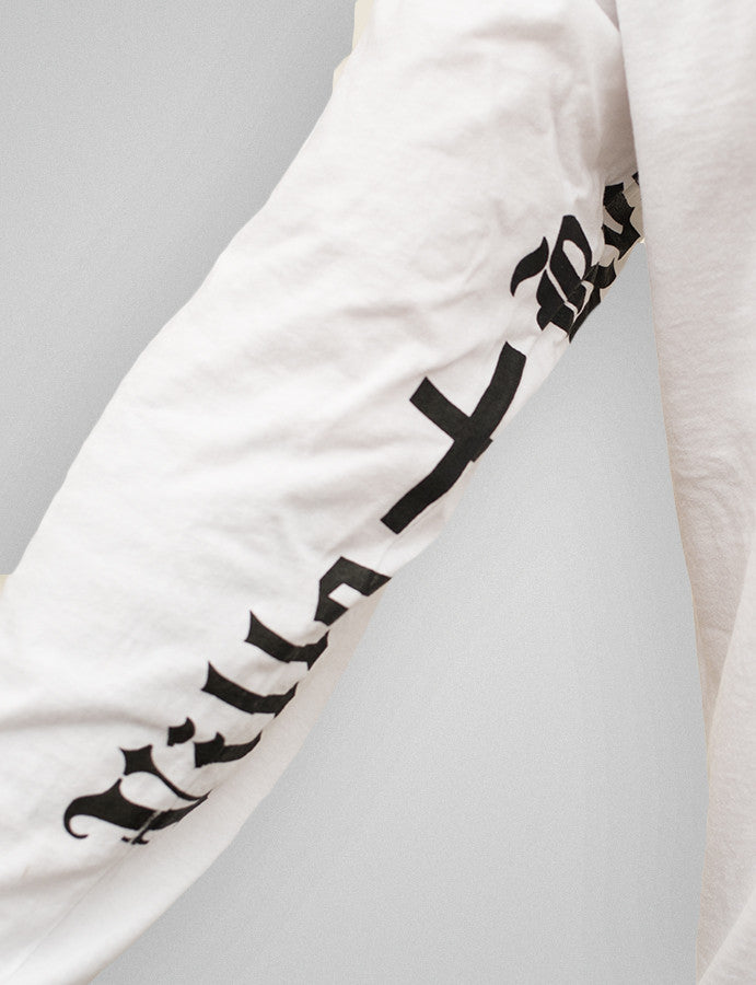 Derelict X Villa Road long sleeve Tee - White