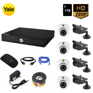 Kit CCTV: 8 Cámaras + DVR + Disco Duro 1TB