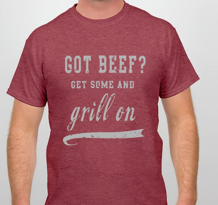 Grill on Got Beef Shirt design in progress