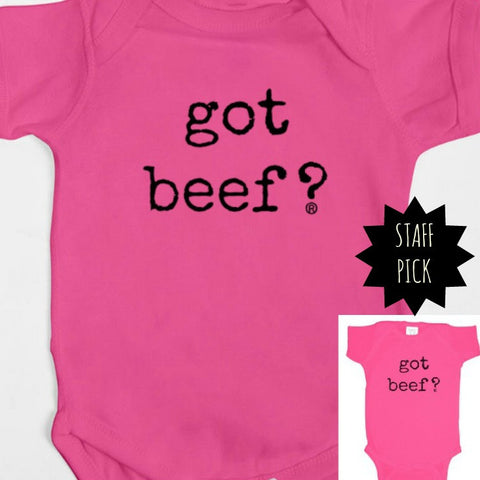 Got Beef? Pink Girls Bodysuit Baby Gear 12MO