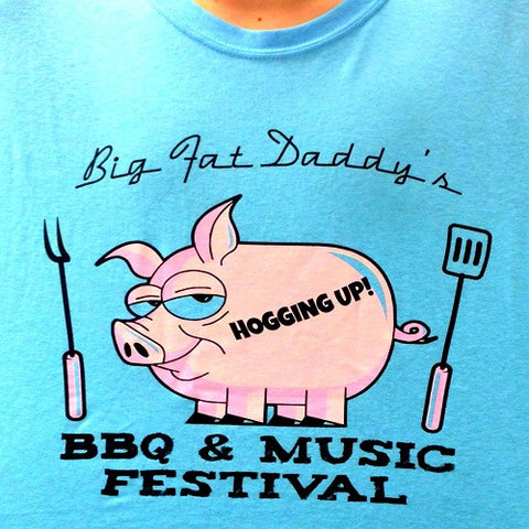 Got Beef? Approved Pig BBQ T-Shirt Barbecue Barbeque Blue TShirt Piggy