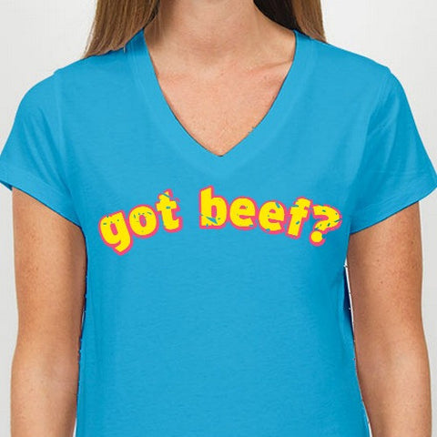 Retro Throwback Got Beef? 1970s Ladies T Shirt