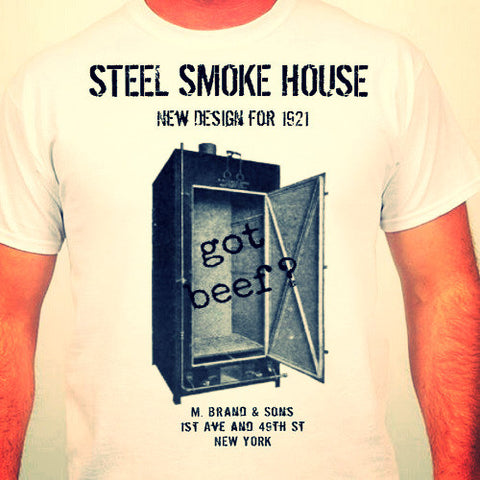 Got Beef ? T-Shirt BBQ Smokehouse Throwback 1921 Shirt White