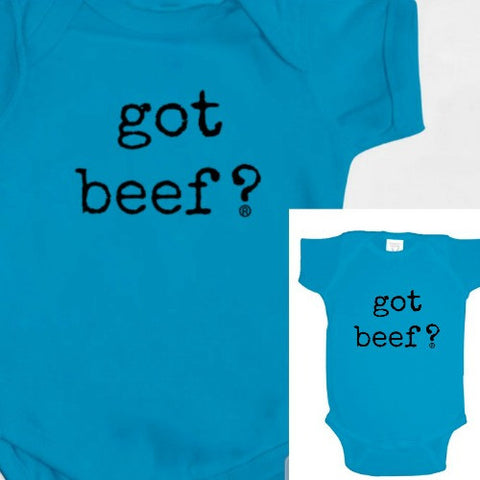 Got Beef? Blue Bodysuit Baby Gear
