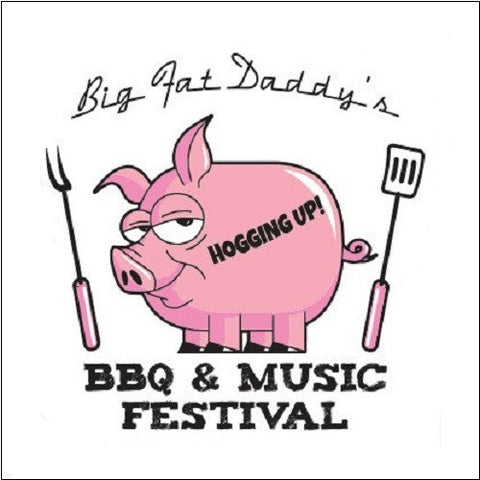 Pig BBQ T-Shirt Barbecue Barbeque White TShirt Piggy