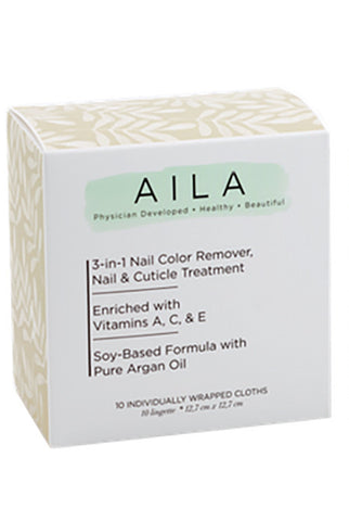 3-IN-1 Soy-Based Nail Color Remover Cloths