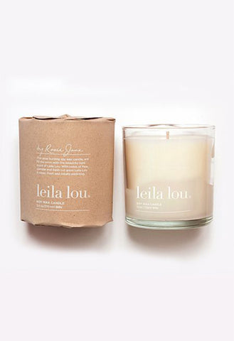 Leila Lou Candle (Coconut Wax, 60 hrs)