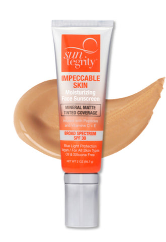 Impeccable Skin Moisturizing Face Sunscreen / Mineral Matte Tinted Coverage w/BROAD SPECTRUM SPF 30 (SAND)