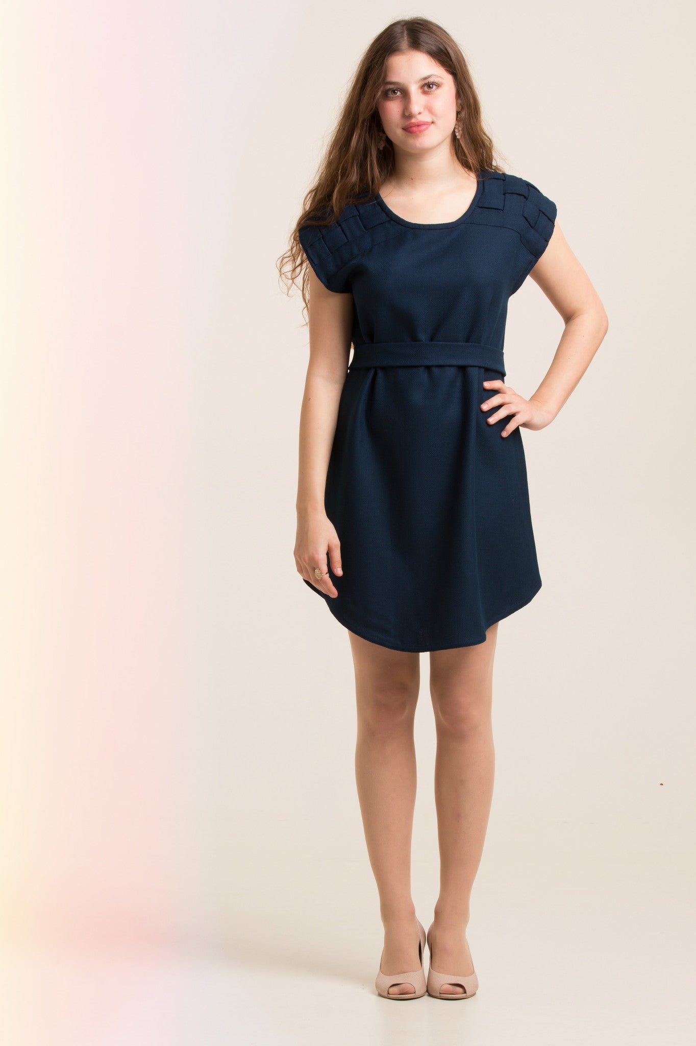 Deep Blue Quilt Dress