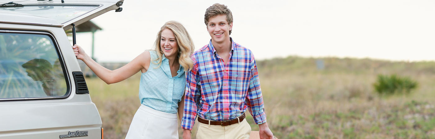 Preppy Men's Button-down Shirts