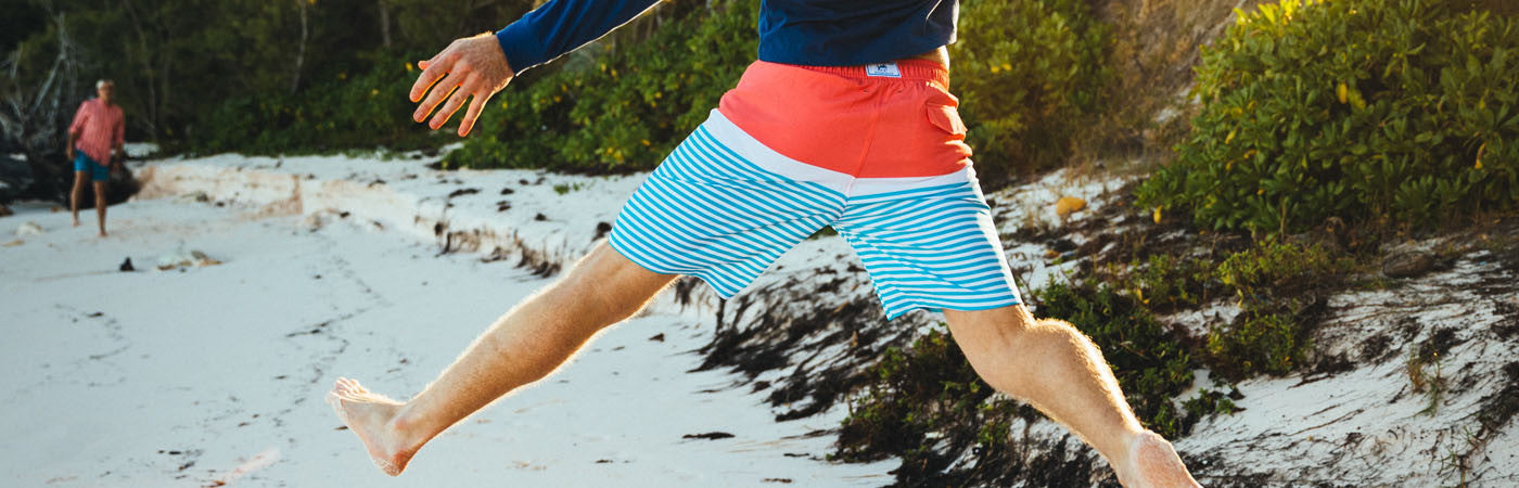 Preppy Men's Swimwear