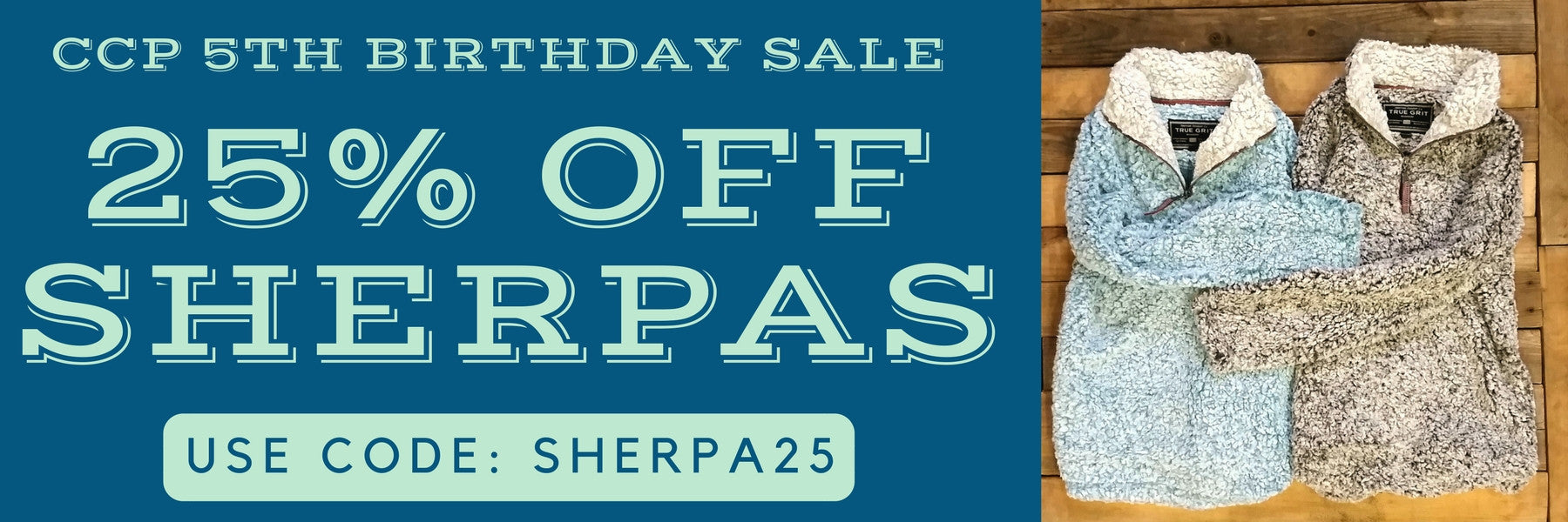 Sherpas on Sale Limited Time