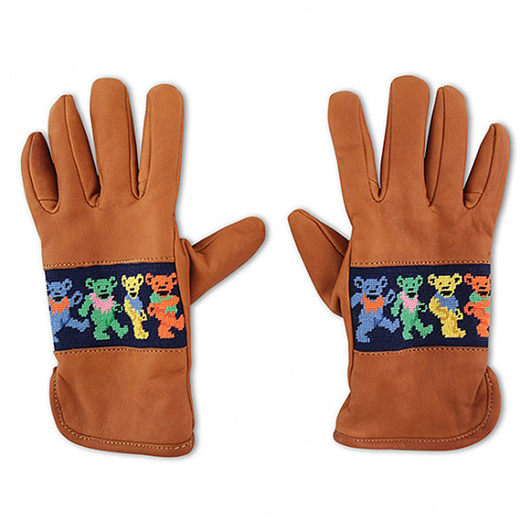 Dancing Bears Needlepoint Gloves by Smathers & Branson