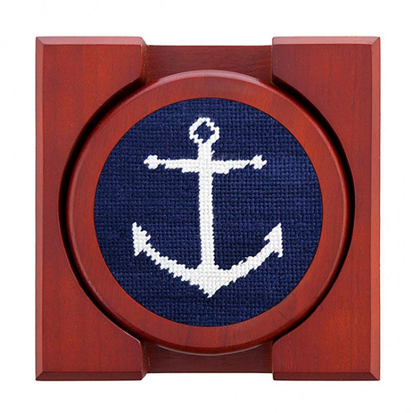 Anchor Needlepoint Coasters by Smathers & Branson