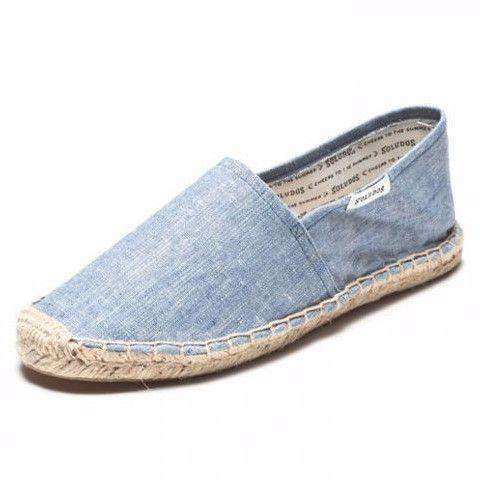 Classic Denim Espadrille in Chambray Blue by Soludos