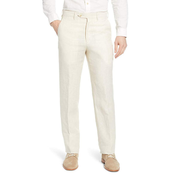Linen Pants in Stone by Country Club Prep