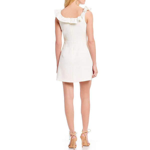 French Connection Whisper Ruffle Square Neck Sheath Mini-Dress by French Connection