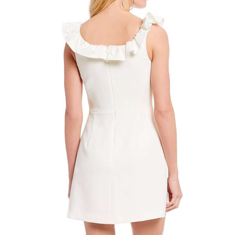 da3173ef7fd French Connection Whisper Ruffle Square Neck Sheath Mini-Dress by French  Connection