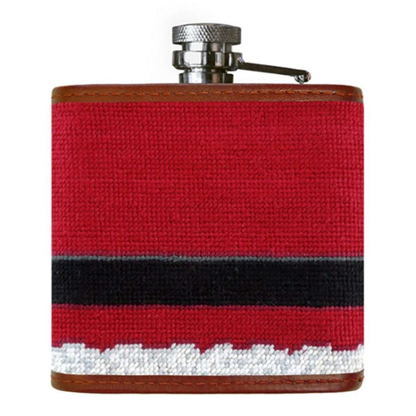 Smathers and Branson Santa Needlepoint Flask by Smathers & Branson