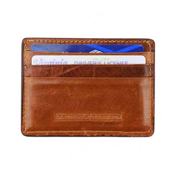 Smathers and Branson Burning a Hole Needlepoint Credit Card Wallet by Smathers & Branson