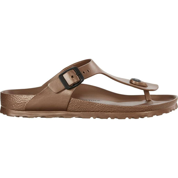 Gizeh Eva Metallic Sandal in Copper by Birkenstock