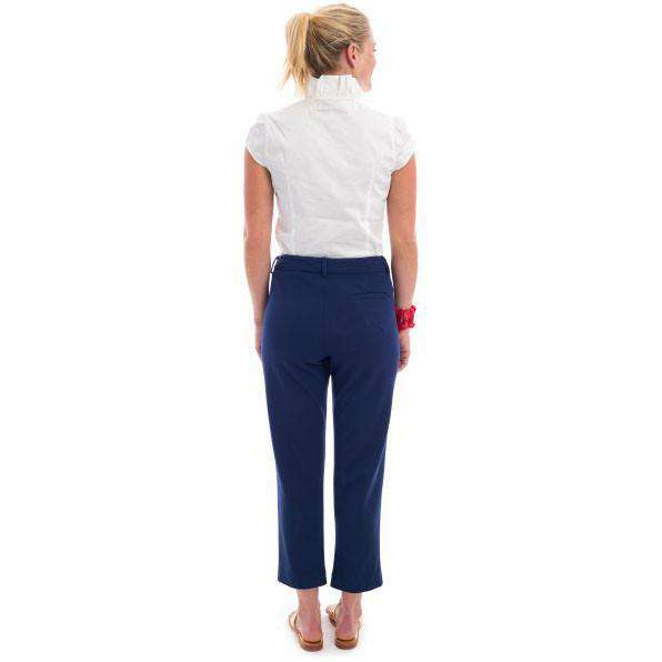 Lauren Cropped Pants in Navy by Elizabeth McKay - FINAL SALE