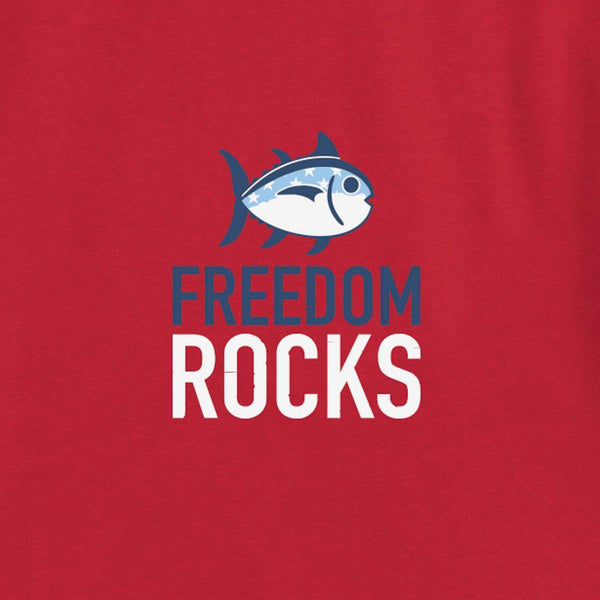Freedom Rocks T-Shirt in True Red by Southern Tide  - 2