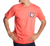 Whiskey Flag Tee Shirt in Coral by Anchored Style  - 2