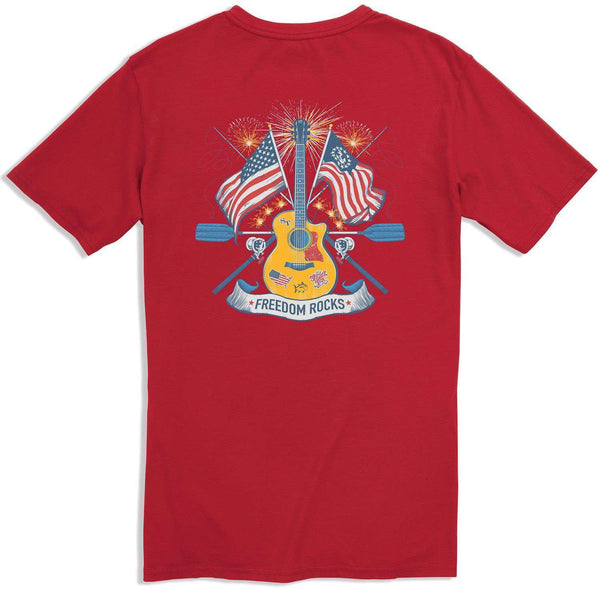 Freedom Rocks T-Shirt in True Red by Southern Tide  - 1