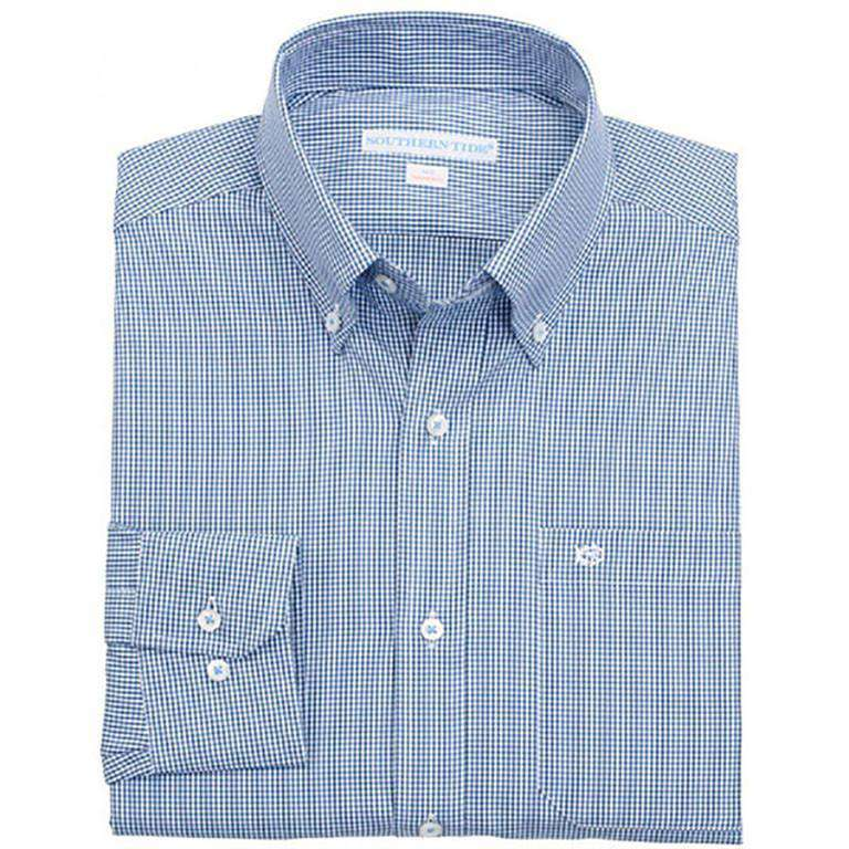 Sea Island Check Classic Fit Sport Shirt in Yacht Blue by Southern Tide  - 1