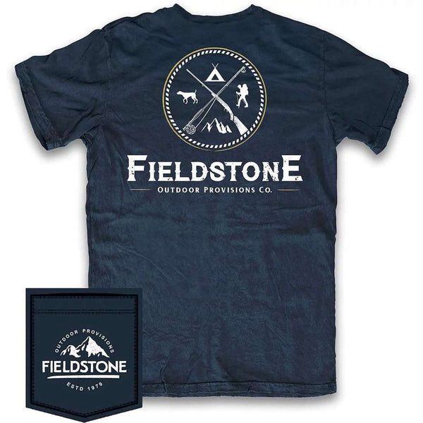 Fieldstone Outdoor Provisions Co. Outdoors Logo Tee Shirt by Fieldstone Outdoor Provisions Co.