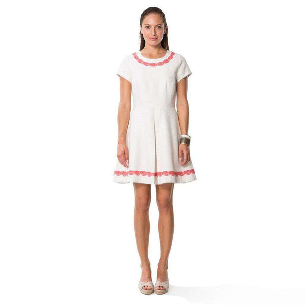 Basket Fit and Flare White Dress with Lace by Sail to Sable