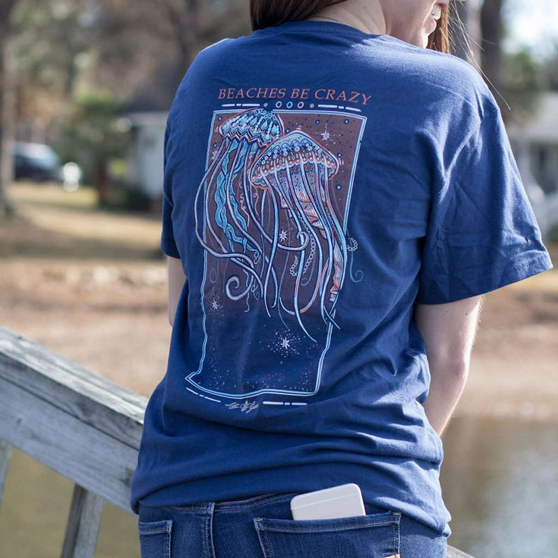 Jellyfish Tee in Navy by Lily Grace