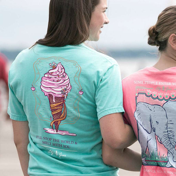 Ice Cream Tee in Chalky Mint by Lily Grace