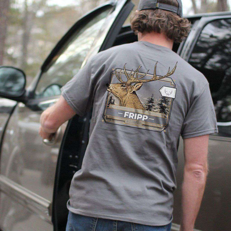 Deer Closeup T-Shirt in Grey by Fripp Outdoors