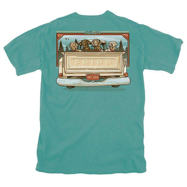 Dogs in Truck T-Shirt in Seafoam by Fripp Outdoors