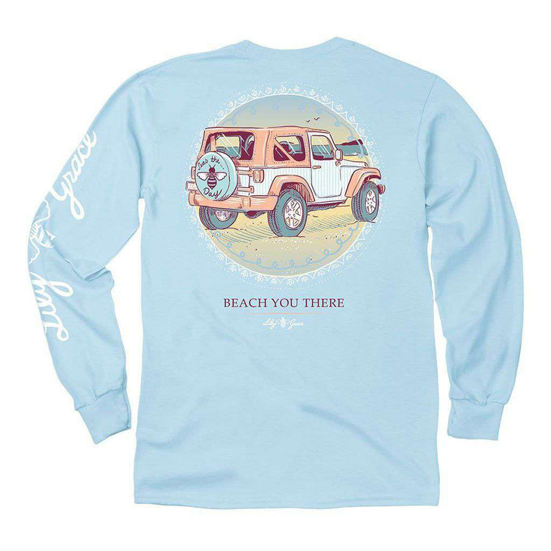 Lily Grace Beach You There Long Sleeve Tee in Chambray by Lily Grace