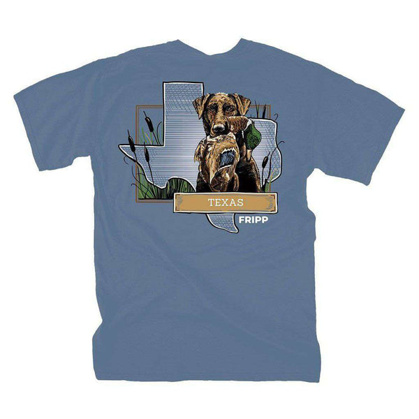 Fripp Outdoors Dog & Duck Texas T-Shirt in Marine Blue