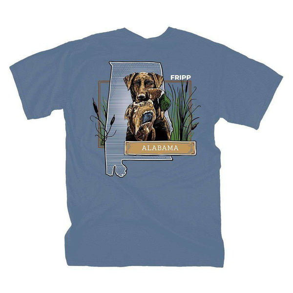 Fripp Outdoors Dog & Duck Alabama T-Shirt in Marine Blue