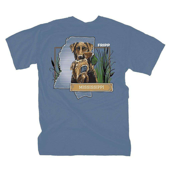 Fripp Outdoors Dog & Duck Mississippi T-Shirt in Marine Blue