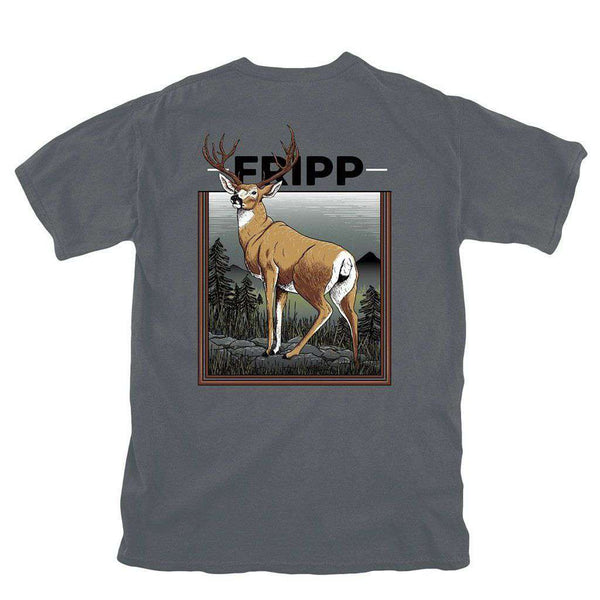 Fripp Outdoors Deer on Rocks T-Shirt in Pepper
