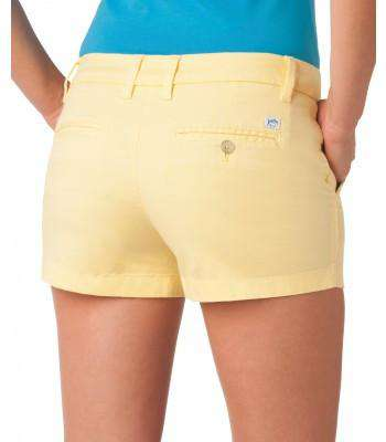"Ladies Chino 3"" Shorts in Lemonade by Southern Tide - Country Club Prep"