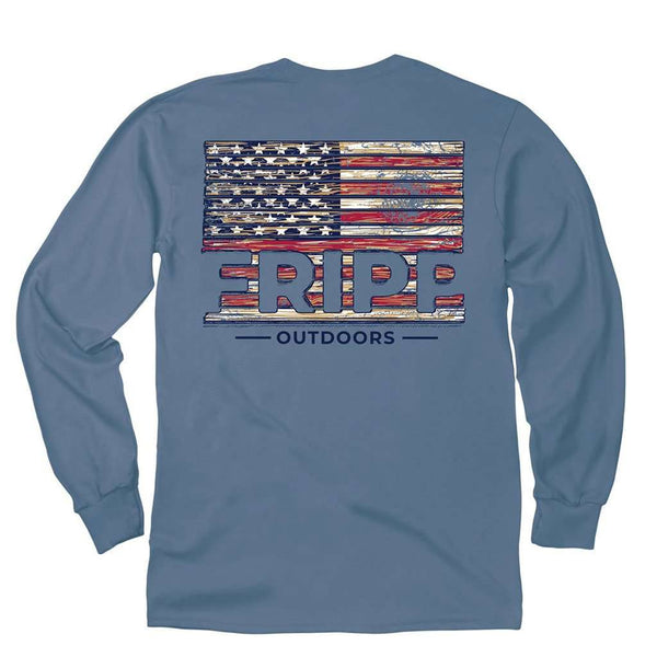 Fripp & Folly Wood Flag Long Sleeve Tee by Fripp Outdoors