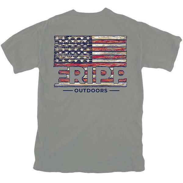 Fripp & Folly Wood Flag T-Shirt by Fripp Outdoors