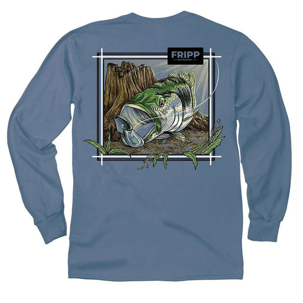 Fripp & Folly Large Mouth Bass Underwater Long Sleeve Tee by Fripp Outdoors